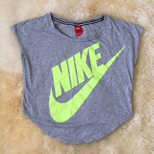 Grey Nike workout top